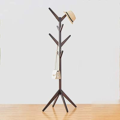 Amazon.com: Der Coatrack Coat Rack Solid Wood Hanger Floor ...