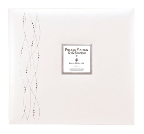 - CR. Gibson Tapestry ST12-5835 12-by-12-Inch Specialty Scrapbook, Precious Platinum