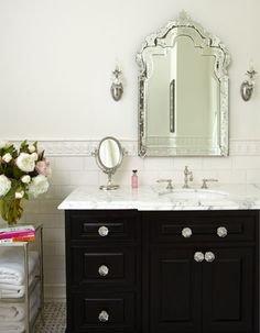 Venetian Design Mirror For Bathroom