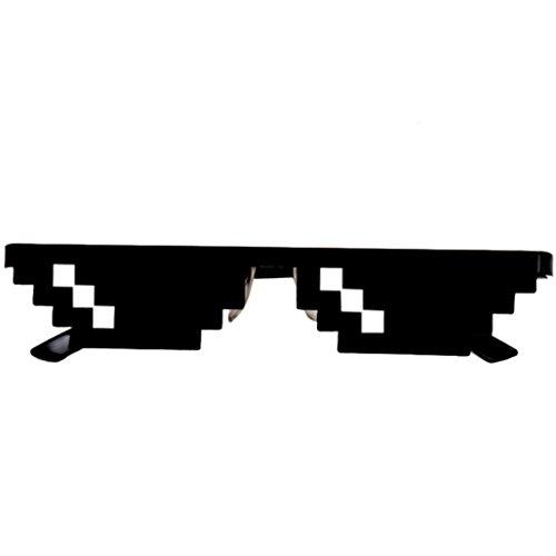 Price comparison product image EKIMI Fashion Joke Thug Life Glasses 8 Bit Pixel Deal With IT Sunglasses Unisex Sunglasses Toy (1 Pixel)