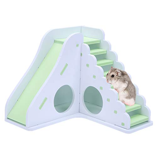 OUBAO Small Animal Play House Pet Toy Entertainment Game House Color Hamster Wooden Toy Ladder Sport