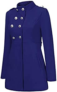 iDWZA Fashion Women Winter Warm Coat Faux Thick Warm Slim Jacket Outerwear Overcoat