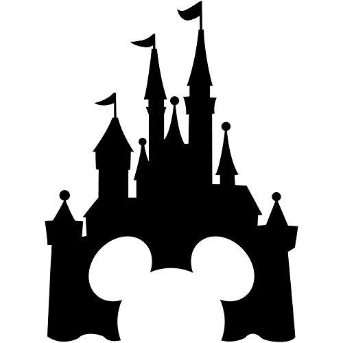 CrazyWEN-Sticker-Disney Castle Decal Walt Disney Land World Decal Sticker Car Truck Window Die Cut Vinyl (Black) -