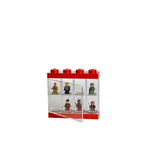Rc Lego Storage, Lego Minifigure Display 8 Slots Red, New
