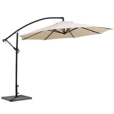 Worldstores Cantilever Parasol - 3 Meter Freestanding Umbrella