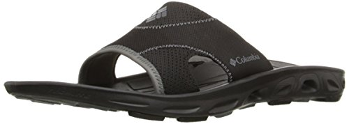 Columbia Men's Black Sandal Vent Charcoal Slide Techsun Fqw1TR