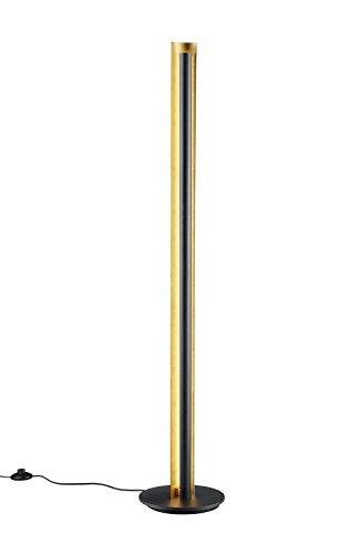 Trio Lighting Texel Lámpara de Pie Integrado, 15 W, Negro, 25 x 25 x 142.5 cm
