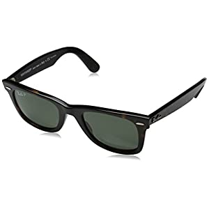 Ray-Ban WAYFARER - TORTOISE Frame CRYSTAL GREEN POLARIZED Lenses 50mm Polarized