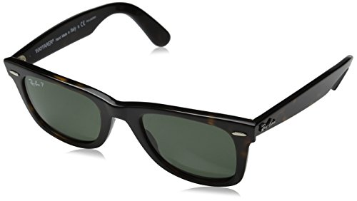 Ray-Ban WAYFARER - TORTOISE Frame CRYSTAL GREEN POLARIZED Lenses 50mm - Rb2140 54