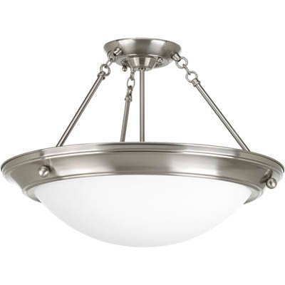 Progress Lighting P3570-09EB G24Q Semi-Flush, 3-26-watt