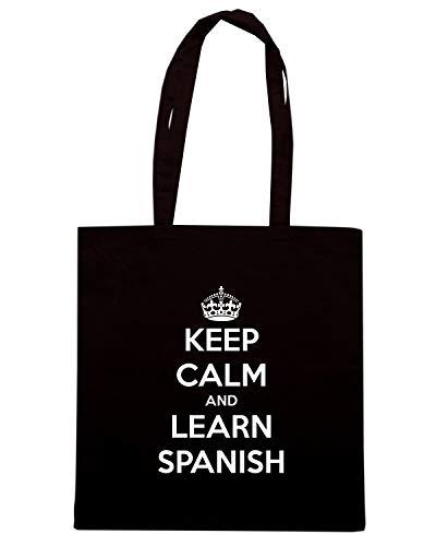 Shopper SPANISH LEARN CALM Borsa KEEP Nera Shirt Speed TKC0857 AND qgEwB4wHx