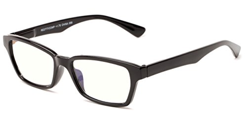 Brody Glass (Readers.com The Brody Computer Reader +3.25 Black with Light Yellow Plastic Rectangular Computer Rectangle Reading Glasses)