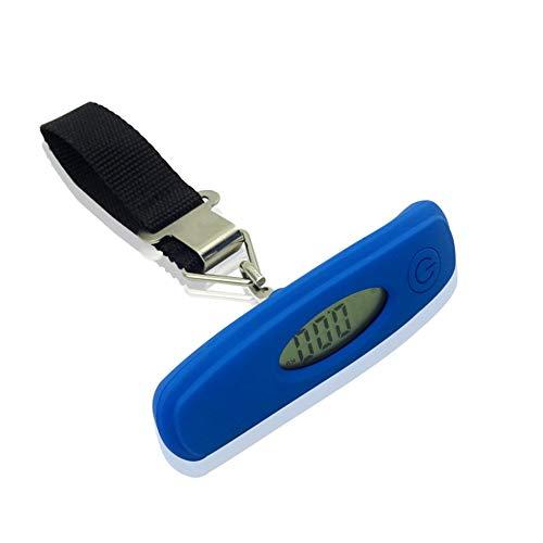 SEN Bilancia da Viaggio Elettronica Digitale da Viaggio LCD per bilance tascabili 50KG Blu
