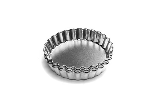 - Fox Run 4590 Tartlet/Quiche Pan with Removable Bottom, Tin-Plated Steel, 4-Inch, Set of 4