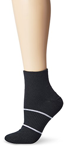 Wrightsock Anti-Blister Double Layer Running II Quarter Sock, Black, Medium