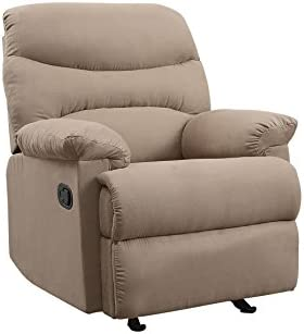 ACME Arcadia Recliner – – Light Brown Microfiber