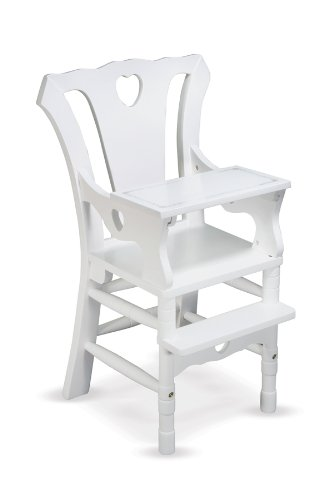 - Melissa & Doug Deluxe Wooden Doll High Chair