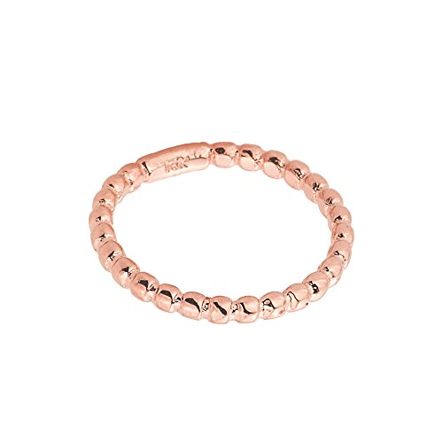 Solid 10k Rose Gold Beaded Band Baby Ring, Size 1 by Family Jewelry (Image #2)