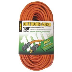 100 Ft 16/3 Outdoor Extension Cord by Prime Wire & Cable