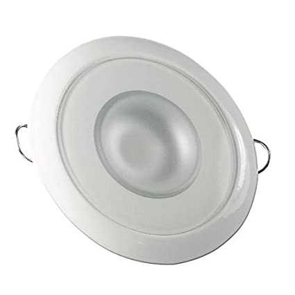 Lumitec Mirage Flush Mount Down Light Glass Finish 3-Color Red//Blue Non Dimming