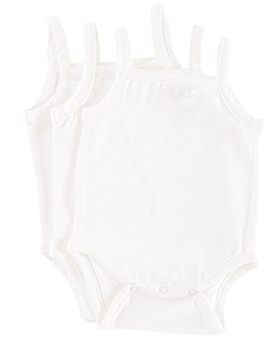 Camisole 9 Month Bodysuit Onsie in Natural Bamboo Fiber -3 Pack