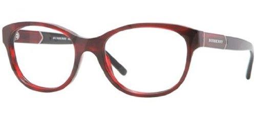 Burberry BE2151 Eyeglasses-3322 Red - Red Burberry Eyeglasses