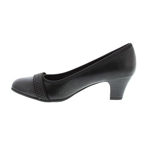 Softline 22464-29 black low heel court shoe (36) uvyvM