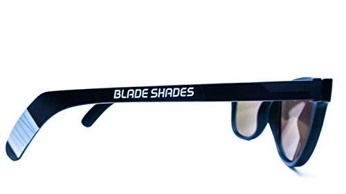 Original Blade Shades Hockey Stick Sport Sunglasses UV Protective (Black/Grey, Red Mirror)