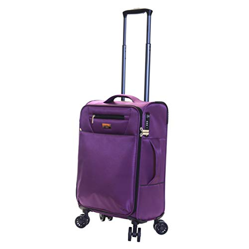 Karabar Cabin Carry-on Hand Luggage Suitcase Bag Ultra Lightweight 55 cm 1.9 kg 35 litres Soft Shell with 4 Spinner…