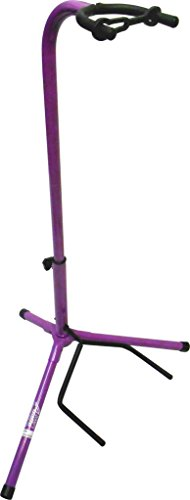Audio2000'S AST4331PL Electric Guitar Stand - Purple