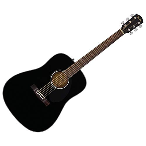 Fender Classic Design CD-60S Dreadnought Acoustic Guitar (Black)