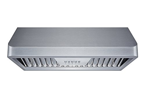 Winflo 30 in. 300 CFM Ducted Under Cabinet Range Hood in Stainless Steel with Baffle Filters and Grease Collector, LED lights and 3 Speed Push Buttons