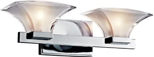 Kichler Max 63% OFF 45037CH Tulare 2-Light Bath Chrome Fixture and Polished Popular