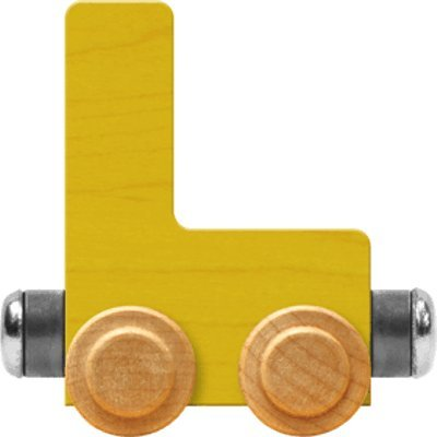 NameTrain Bright Letter Car L - Made in USA (Yellow)
