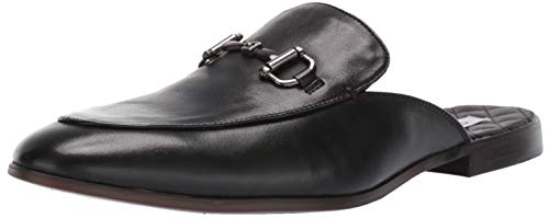 (Steve Madden Men's DAZLING Mule, Black Leather, 12 M US)