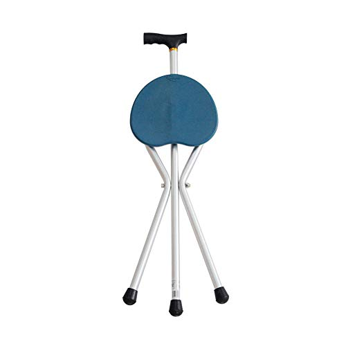 Walker, Foldable Aluminum Cane, Three-Legged Cane Chair Height is Not Adjustable, Rehabilitation Training Walker for The Elderly Assisted Walking by HN Walker