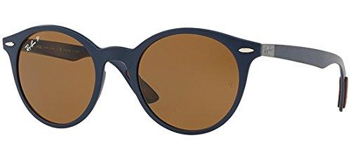 Ray-Ban Plastic Unisex Polarized Round Sunglasses, Matte Dark Blue, 51 - Glasses Parts Ban Ray