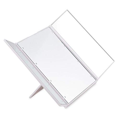 - RANRANHOME Lighted Makeup Mirror,Vanity Mirror with Lights LED Magnifying Mirror with Adjustable Stand for,White