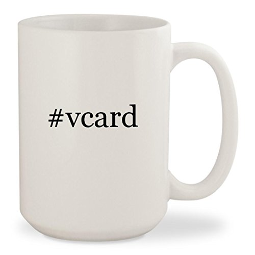 Price comparison product image #vcard - White Hashtag 15oz Ceramic Coffee Mug Cup
