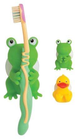 Les porteurs de Mommys Helper brosse à dents, Froggie et ami