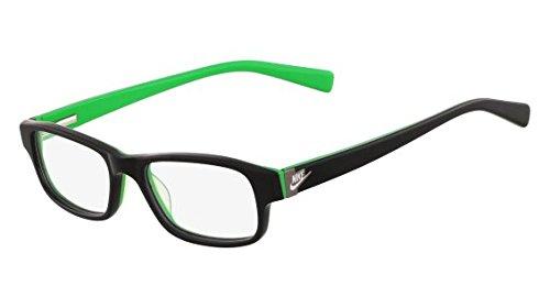 Nike - NIKE 5528 TEENS, Wayfarer, acétate, junior, BLACK GREEN(015 F), 48/15/135