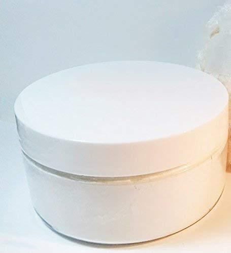 Honeysuckle Scented Silk Dusting Powder Set - 8 oz Jar Silk Powder and Silky Body Powder Puff