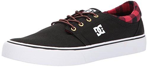 DC Men's Trase TX SE Skate Shoe, Black Buffalo Plaid, 5.5 D US