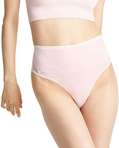 Yummie Women's Ultralight Seamless Lace Insert Shapewear Thong