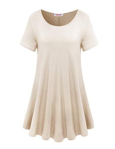 BELAROI Women's Short Sleeve Tunic Tops Plus Size T Shirt ()