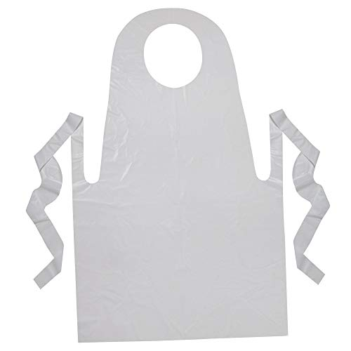 """Creativity Street PAC91240 Youth Disposable Aprons, White, 24"""" x 35"""", 100 Count"""