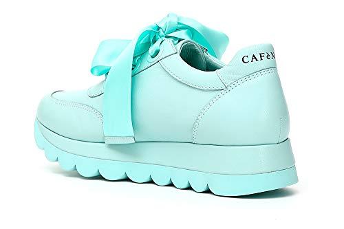 A 1757 Sneaker Alto Donna Acquamarina Cafènoir Kdb235 Collo BRwwPq