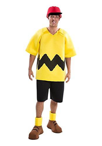 Toy Island Boys Adult Charlie Brown Costume, Medium