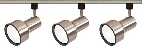 Nuvo Lighting TK340 3-Light R30/PAR30 Longneck Step Cylinder Track Light Kit, Brushed Nickel (Round Back Cylinder Par30)
