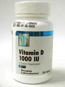 Дуглас лаборатории - Витамин D 1000 МЕ - таблетки по 100